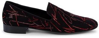 Giuseppe Zanotti Crystal Embellished Suede Loafers