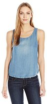 BB Dakota Women's Tamala Linen Tencel Cross Back Tank Top