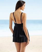 Soma Intimates Miraclesuit Modern Black Friller One Piece Swimdress