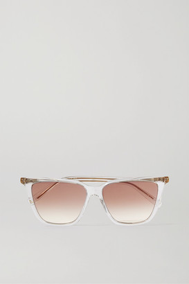 Givenchy Square-frame Acetate And Gold-tone Sunglasses - Clear