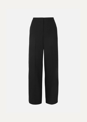 Alexander McQueen Wool-blend Wide-leg Pants - Black