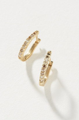 Jemma Sands Rincon Diamond Huggie Hoop Earrings By Jemma Sands in Gold Size ALL