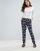 Pieces Ivalo Brushmark Printed Pants