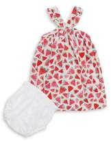Hatley Baby's Two-Piece Watermelon Dress & Bloomer Set