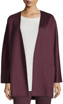 Max Mara Edel Collarless Cashmere Jacket, Purple