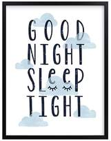 Pottery Barn Kids Good Night Wall Art by Minted®, Black, 11x14