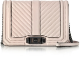 Rebecca Minkoff Soft Blush Quilted Leather Small Love Crossbody Bag