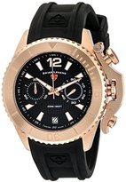 Swiss Legend Men's 'Scorpion' Quartz Stainless Steel and Silicone Automatic Watch, Color:Black (Model: 14018SM-RG-01)