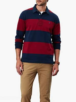 Joules Onside Long Sleeve Stripe Rugby Polo Shirt