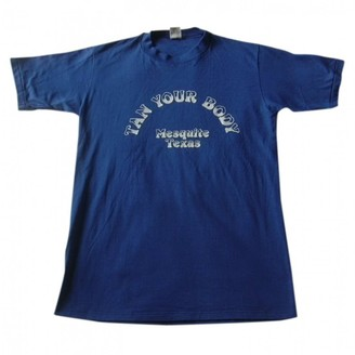 N. Non Signé / Unsigned Non Signe / Unsigned \N Blue Cotton Tops