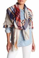 Collection XIIX Mega Plaid Square Wrap