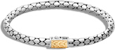 John Hardy Women's Dot 4.5MM Bracelet in Sterling Silver and 18K Gold