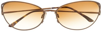 Prada Pre Owned 2000s Tortoiseshell Eye-Cat Sunglasses
