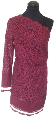 MSGM Burgundy Lace Dress for Women