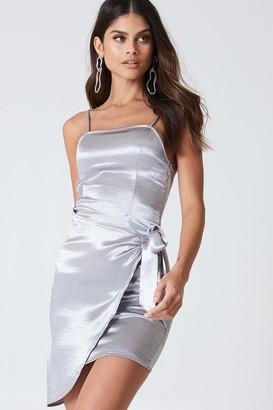 Kristin Sundberg For NA-KD Overlapped Tie Front Dress