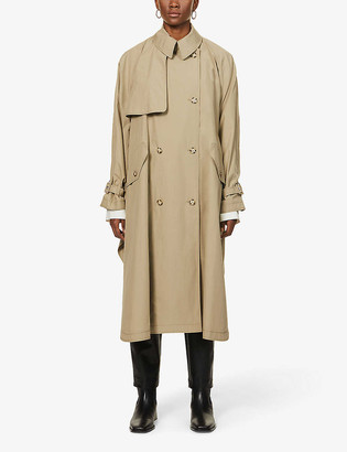 Stella McCartney Cape double-breasted cotton trench coat