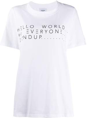 Dondup oversized slogan print T-shirt