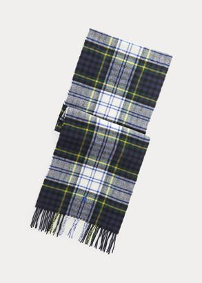 Ralph Lauren Fringe Tartan Wool Scarf