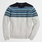 J.Crew Factory Indigo Fair Isle crewneck sweater