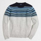 J.Crew Factory Slim indigo Fair Isle crewneck sweater