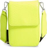 BP Faux Leather Nylon Strap Crossbody Bag