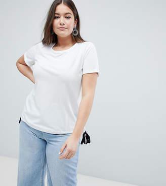 Junarose Tie Side T-Shirt-White