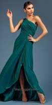 Mac Duggal One Shoulder Ruched Evening Dress