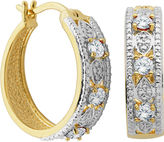SPARKLE ALLURE Classic Treasures Genuine White Topaz and Diamond-Accent Hoop Earrings