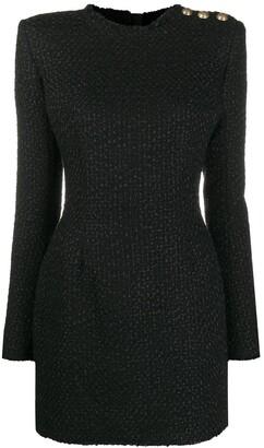Balmain Boucle Tweed Mini Dress