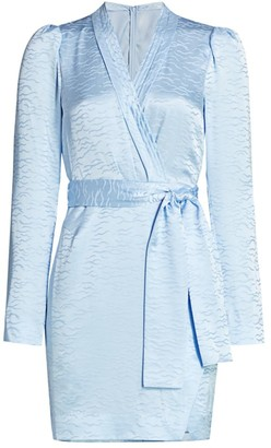 Saloni Mountain Stamped Satin Robe