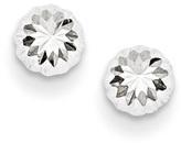 Zales 5.0mm Diamond-Cut Ball Stud Earrings in 14K White Gold