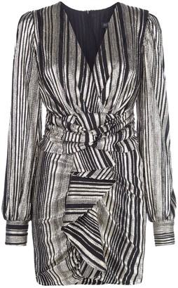PatBO Metallic Stripe Mini Dress