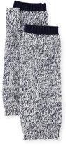 Bergdorf Goodman Marled Cashmere Fingerless Gloves/Arm Warmers, Navy