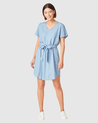 French Connection Women's Dresses - Tie Waist Lyocell Dress - Size One Size, 14 at The Iconic