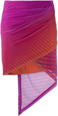 Fenty by Rihanna Grid Pattern Asymmetric Skirt