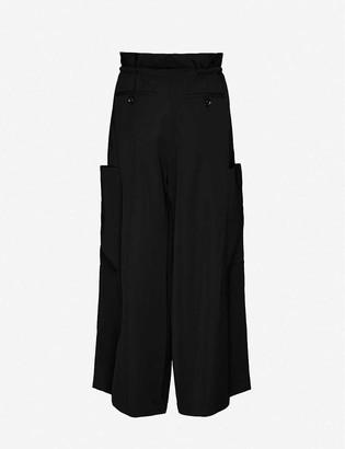AKIRA NAKA Queenie Baggy wide-leg high-rise crepe trousers
