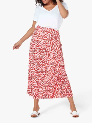 Live Unlimited Curve Ditsy Button Through Skirt