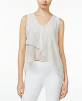 Rachel Roy Printed Asymmetrical Top