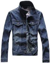 Partiss Men's Slim Fit Denim Jacket