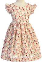 Kid's Dream Girls' Special Occasion Dresses Pink - Pink Bunny Bow-Accent Flutter-Sleeve A-Line Dress - Toddler & Girls
