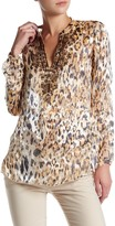Hale Bob Animal Print Silk Blend Tunic