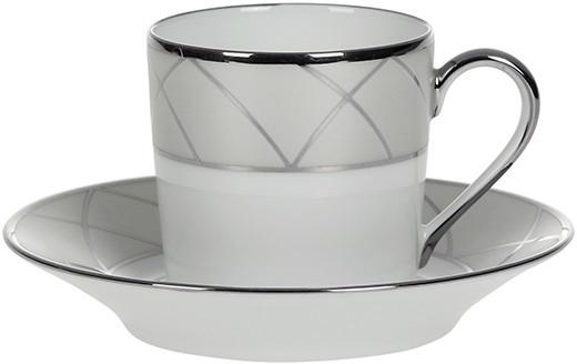 Haviland Clair De Lune Arcades Coffee Cup & Saucer