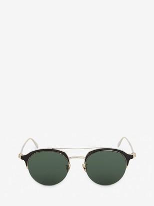 Alexander McQueen Skull Panthos Metal Sunglasses