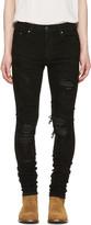 Amiri Black Snake Skinny Jean
