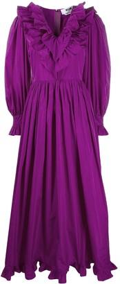 MSGM Ruffled Trim Long Gown