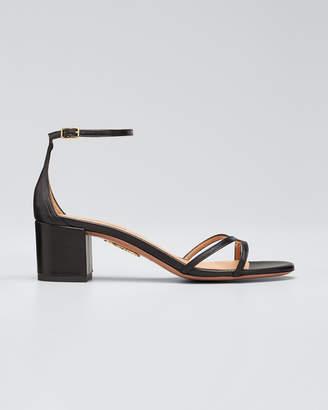 Aquazzura Suede Block-Heel Sandals