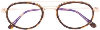 Tom Ford FT5676B round-frame glasses