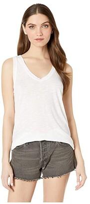 Michael Stars Brooklyn Jersey U-Neck Tank Top (White) Women's Sleeveless
