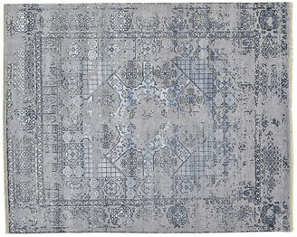 Solo Rugs 8'x10' Govad Hand-Knotted Rug - Light Gray light gray/multi