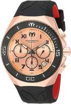 Technomarine Men's Manta 48mm Black Silicone Band Steel Case Quartz Rose Gold-Tone Dial Watch TM-215065